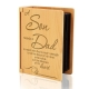 A Son Needs A Dad Wooden Album