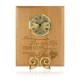 Love Stops Time Wooden Plaque With Clock