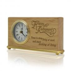 Time for Living Wooden Desk Clock