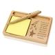 Make it Happen Wooden Notepad & Pen Holder