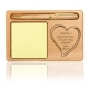 Follow Your Heart Sticky Notepad & Pen Wooden Holder