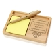 Success Wooden Notepad & Pen Holder