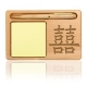Chinese Double Happiness Wooden Notepad & Pen Holder