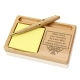 The Mind of Man Wooden Notepad & Pen Holder