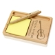 Rather Play Guitar Wooden Notepad & Pen Holder