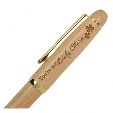 You're My Lucky Charm Wooden Pen with Golden Accents