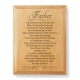 A Quality Man Wooden Plaque